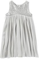 Osh Kosh Pleated Sparkle Chiffon Dress