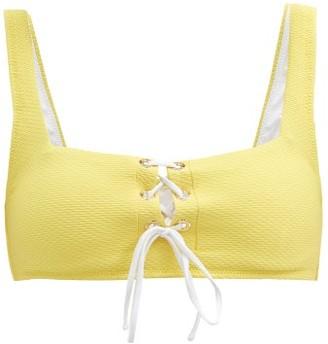 Heidi Klein Cancun Lace-up Bikini Top - Yellow