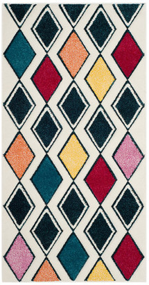 """Safavieh Hollywood Collection HLW704 Rug, Ivory/Peacock Blue, 2'7""""x5'"""