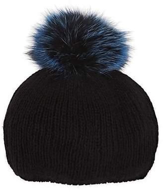 Eugenia Kim Women's Rochelle Fur-Pom-Pom Angora-Blend Beret - Black