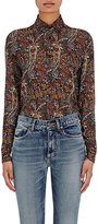 Saint Laurent Women's Paisley Button-Front Shirt-NAVY, RED, NO COLOR