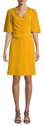 Kobi Halperin Maggie Silk Flutter-Sleeve Dress