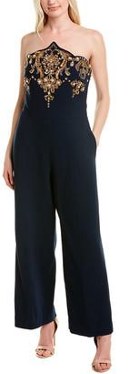 Oscar de la Renta Wool-Blend Jumpsuit