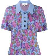 YMC Floral Knitted Polo Shirt