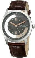 Stuhrling Original Men's 946.02 Winchester Quartz Stainless Steel Transparent Dial Brown Leather Watch
