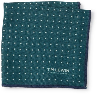 T.M.Lewin Pin Spot Pocket Square