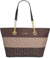 Calvin Klein Florence Top-Zip Small Signature Tote