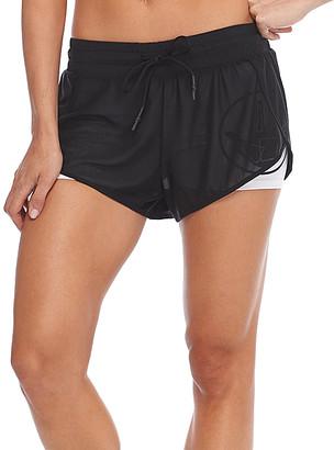 Body Glove Women's Active Shorts BLACK - Black Pluto Layered Shorts - Women