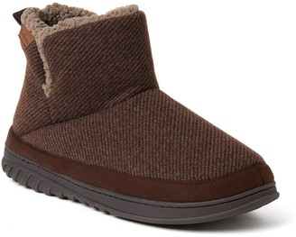 Dearfoams Men's Woven Boot Slippers - James
