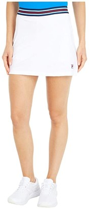 Fila Heritage Tennis A-Line Skort (White) Women's Clothing