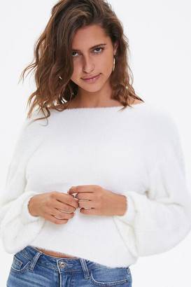 Forever 21 Plush Twist-Back Sweater