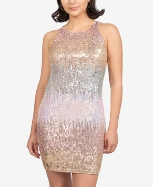 B. Darlin Juniors' Ombre Sequin Bodycon Dress, Created for Macy's