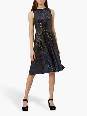 Hobbs Robin Dress, Blue Black