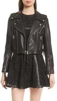 The Kooples Women's Lace-Up Lambskin Leather Jacket
