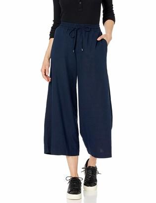 Chaps Women's Cropped Linen Blend Pant