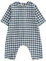 Babe & Tess Japanese Cotton Check Jumpsuit