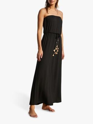 Mint Velvet Strapless Maxi Dress, Black