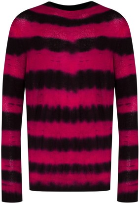 The Elder Statesman Ripple Tie-Dye Striped Jumper