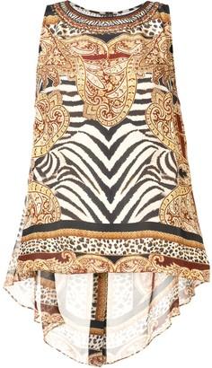 Camilla Abstract-Print Silk Top