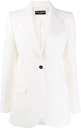 Dolce & Gabbana fitted single-button blazer