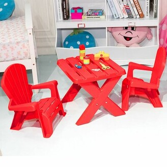 Najera Kids 3 Piece Play Table and Chair Set Zoomie Kids Color: Red