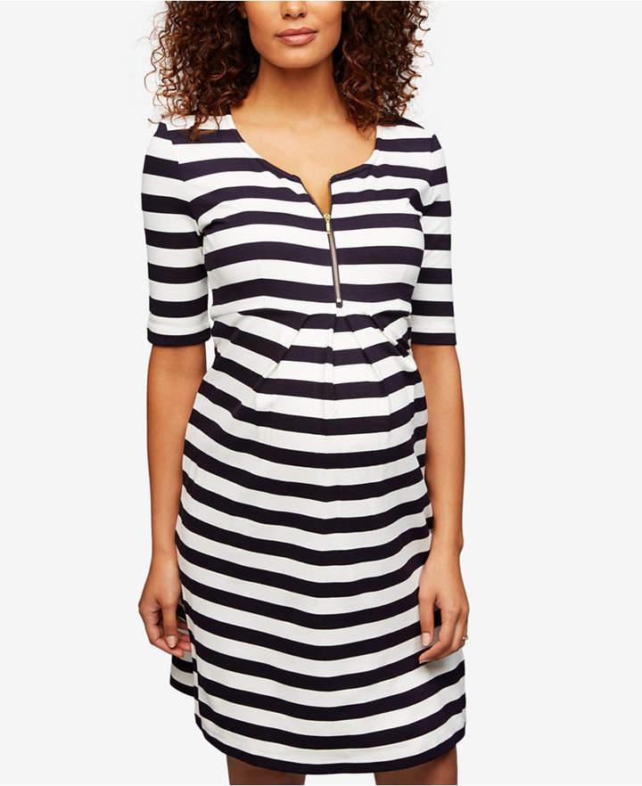 Isabella Oliver Maternity Striped A-Line Dress