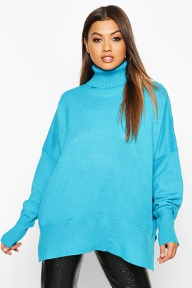 boohoo Oversized Turtle Neck Knitted Sweater