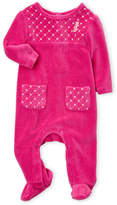 Juicy Couture Newborn Girls) Quilted Metallic Graphic Footie