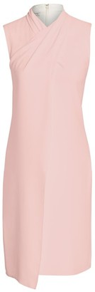 Halston Cross Highneck Dress