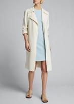 Theory Fitted Wool Sleeveless Sheath Dress