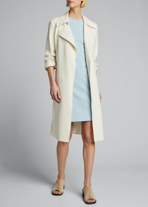Theory Fitted Wool Sleeveless Sheath Dress