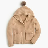 J.Crew Girls' wool hoodie jacket