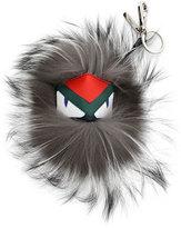 Fendi Fur Monster Charm For Bag, Blue/Gray