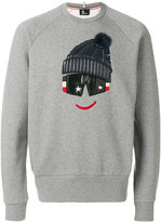 Moncler printed crewneck jumper