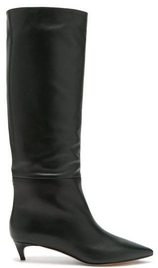 7a56ad92afe Maxima 35 Leather Knee High Boots - Womens - Dark Green
