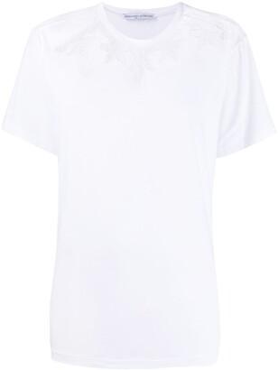 Ermanno Scervino open crochet neck T-shirt
