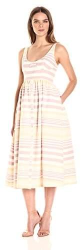 Mara Hoffman Women's Stripe Button Midi Dress