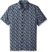 Perry Ellis Men's Short Sleeve Abstract Floral Print Shirt