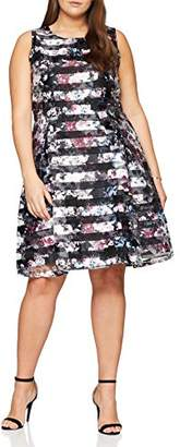 SIMPLY BE Women's Confetti Print Burn Out Prom Dress