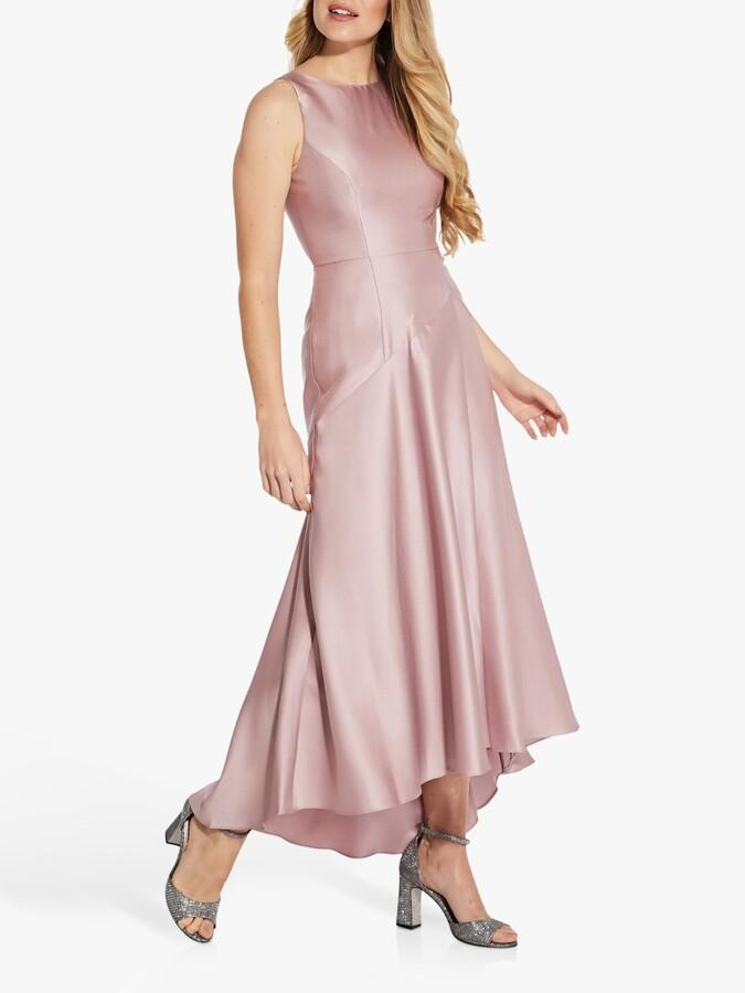 Adrianna Papell Mikado Drop Waist Gown, Aurora Pink