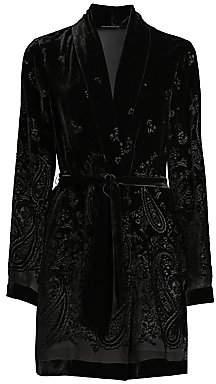 Elie Tahari Women's Coley Paisley Burnout Velvet Jacket