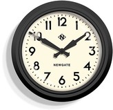 Newgate 37cm Matt Black The Electric Station Wall Clock