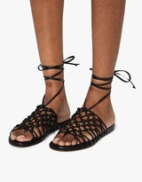 Knotted Ankle Wrap Sandal
