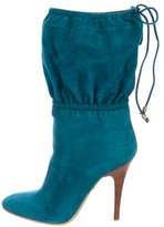 Roberto Cavalli Suede Ankle Boots