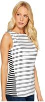 Three Dots Santorini Mykonos Striped Tank Top Women's Clothing