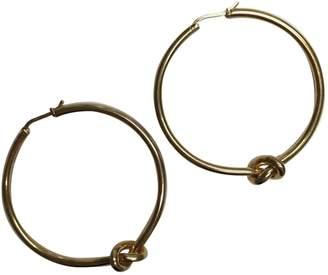 Celine Knot Gold Metal Earrings