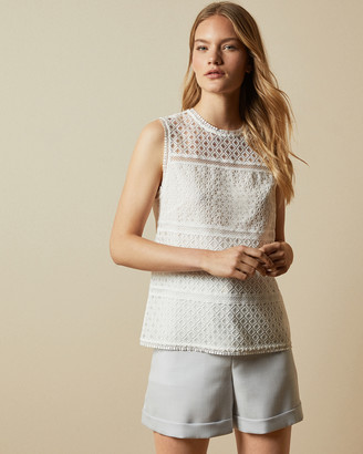 Ted Baker ADRIENE Lace panelled top