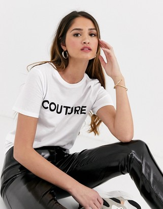 New Look couture slogan girlfriend tee in white
