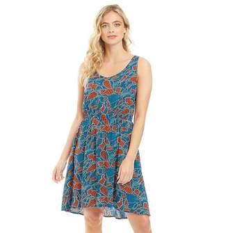 Only Womens Nova Sara All Over Print Dress Night Sky/Paris Graphic