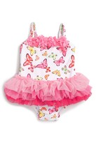 Little Me Butterfly One-Piece Tutu Swimsuit (Baby Girls)